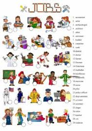 english exercises occupations games and puzzles
