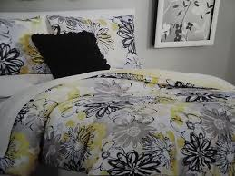Yellow Grey And White Bedding Yellow Black And Grey Comforter Sets 11684