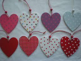 shabby chic wooden heart hanging decoration xmas door hanger