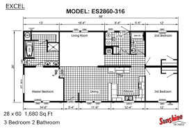 Double Wide Trailers Floor Plans by Delighful Single Wide Mobile Home Floor Plans 4 Bedroom Google