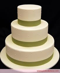 cake tiers 3 tier swiss dot ribbon wedding cake wedding cakes
