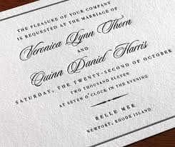 wedding invitation wording formal pt 3 letterpress wedding
