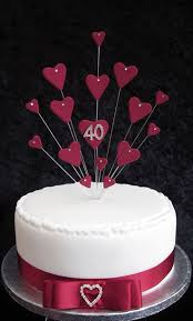 30 best ruby anniversary cake ideas images on pinterest ruby