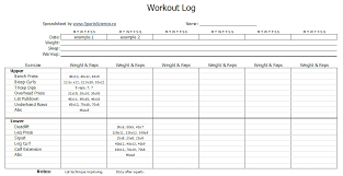 Workout Excel Template Workout Char Template Excel Designs Fast Easy