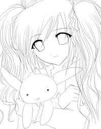 cute manga coloring pages anime coloring sheet invatza info