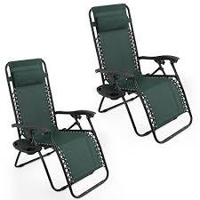 Anti Gravity Lounge Chair Arksen Dark Green Zero Gravity Patio Chairs 2 Pack