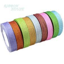 glitter ribbon wholesale 25yards roll 1 25mm metallic glitter ribbon colorful wholesale