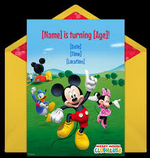 mickey mouse birthday invitation sample invitations online