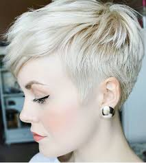 cropped hairstyles with wisps in the nape of the neck for women undercut pixie pinteres