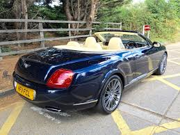bentley convertible blue used dark sapphire bentley continental gtc for sale essex