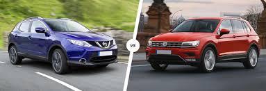 volkswagen suv 2016 nissan qashqai vs vw tiguan suv comparison carwow