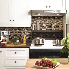 kitchen tile wall black l shape cabinet wood island furniture