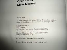 padi open water diver manual 2006 edition drew richardson