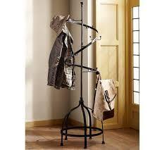 spiraling iron coat rack