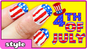easy nail art tutorial 4th of july independence day american