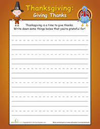 what are you thankful for worksheet education