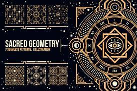 sacred geometry patterns creative market