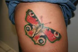 outstanding butterfly tattoo design on thigh tattooshunter com