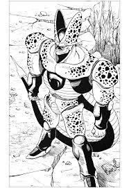inspired dragon ball cell character manga anime