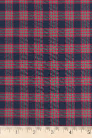 navy and cranberry plaid flannel fabric