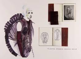 fashion sketchbook fashion illustration fabric manipulation