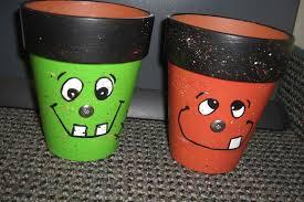 halloween tin cans halloween decorations clay pot ghost vampire decor clay pot