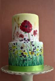 How To Decorate Cake At Home 25 Best Hand Painted Cakes Ideas On Pinterest Painted Wedding