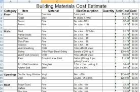cost of a building download construction building materials cost estimate sle