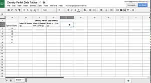using google sheets to make a data table youtube