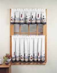 lovely kitchen window curtains vegetable pattern matching valance