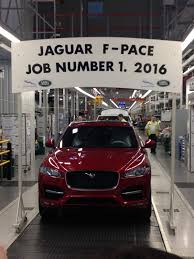 jaguar dealership jaguar f pace production secretly starts they are on the way