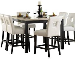 homelegance archstone 7 piece counter height dining room set with
