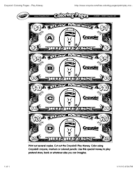 play money coloring pages snapsite me