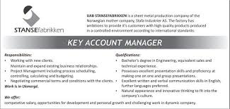 key account manager resume key account manager resume customers