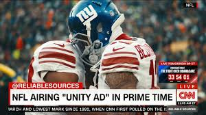 airing see the u0027unity u0027 ad the nfl is airing after trump u0027s attack video