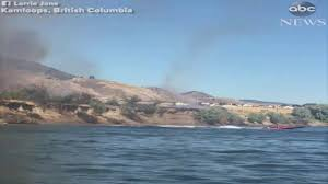 Canadian Wildland Fire Training by Speedboat Makes Waves To Douse Canada Wildfire Youtube
