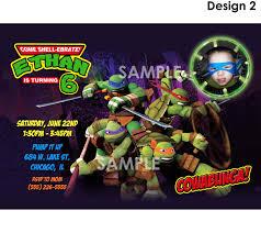 teenage mutant ninja turtles birthday party invitations template