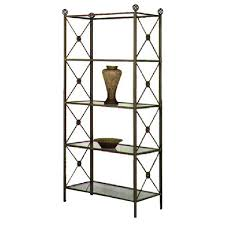 Wrought Iron Wall Shelves Neoclassic Wrought Iron Etagere 4 Glass Shelves Dcg Stores