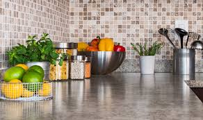 countertops kitchen countertop with food ingredients and herbs