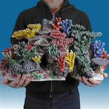 r064 medium coral reef aquarium décor for marine fish tanks