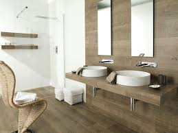 wood tile bathroom vanity stylish blue tile mosaic backsplash as