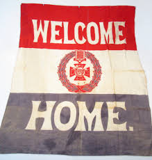 Flag Red With White Cross An Early 20thc Wwi Welcome Home Victoria Cross Cloth Flag Lot 10