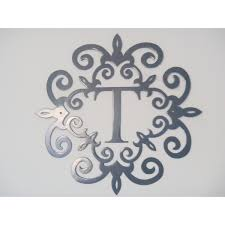 Home Decor Initials Letters Monogram Letter T Wall Hanging Monogram Inside A Metal
