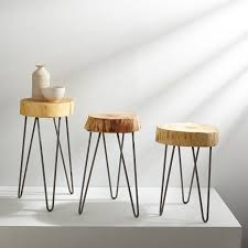 Chair Side Table Gong Design Stump Side Table West Elm