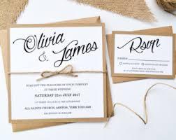 Wedding Invitation Stationery Rustic Wedding Invitation Etsy Uk