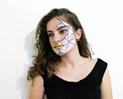 geometric halloween makeup what sarah writes
