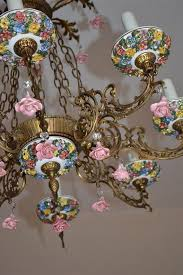 porcelain chandelier roses 31 best vintage and antique lighting images on antique