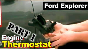 2002 ford explorer thermostat housing coolant leak part 1 youtube
