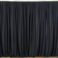stage backdrops 10ft black polyester curtain stage backdrop partition premium