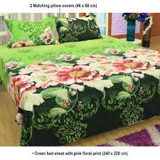 buy set of 5 floral 3d bed sheets with 10 pillow covers at